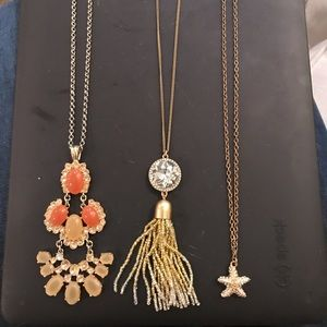 Lot of 3 j. Crew long necklaces